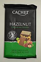 Шоколад молочний 32% Cachet з фундуком, 300г, фото 1