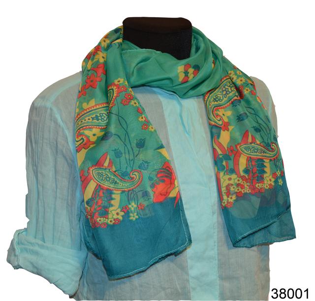 Женский легкий шифоновый шарф 1