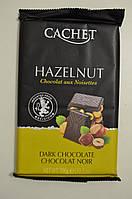 Шоколад черный 54% Cachet с фундуком, 300г, фото 1