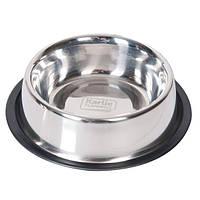 Миска Karlie-Flamingo Dish Rubber Rim для собак, 1,59 л