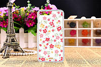 Силиконовый чехол на Iphone 5C с рисунком мелкие цветочки на белом фоне
