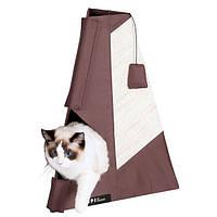 Когтеточка Karlie-Flamingo Tipi Scratching Board для кошек с домиком, 48х60 см, фото 1