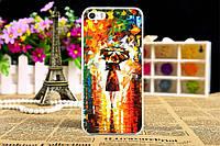 Чехол на Iphone 5C с картинкой девушка под дождём живопись