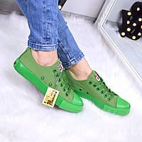 Кеды женские All Stars Converse зеленые 3329, мокасины женские