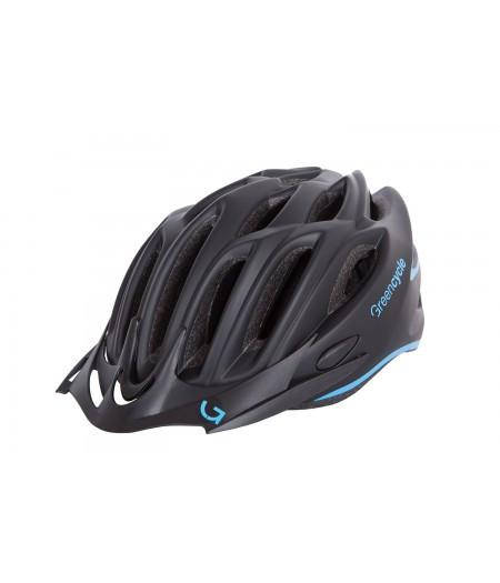 Шлем Green Cycle New Rock (черно-голубой матовый)