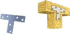 Пластина Т-образная 70х50х16х2.0