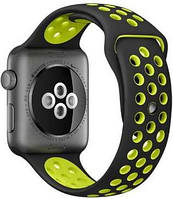 Ремешок Nike Sport Band Black/Volt для Apple Watch 42mm Series 1/2