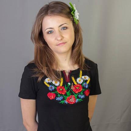 Женская вышиванка маки ромашка колосок до 56 размера, фото 2