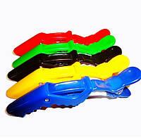 Зажим-крокодил ДенІС пластик цветной 5 шт/уп