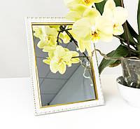 Зеркало в багете, зеркала настольные, зеркала настенные, зеркало с подставкой, 1713-14