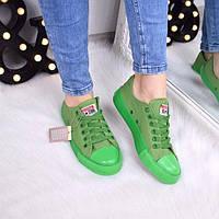 Кеды женские All Stars Converse зеленые 3329 , женские конверсы