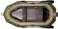 В-260NРD BARK надувная лодка ПВХ гребная двухместная настил + скользящие виденья +  транец + привальный брус