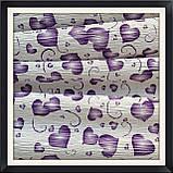 Гофрированная бумага 50*250 см Сердца ( фиолетовые), фото 2
