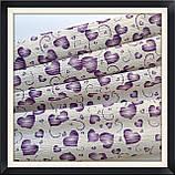 Гофрированная бумага 50*250 см Сердца ( фиолетовые), фото 3