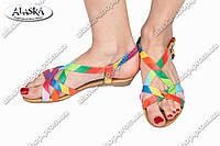 Женские сандалии цветные (Код: Босоножки)