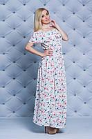 Платье с рюшей в пол, фото 1
