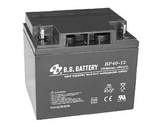 Аккумуляторная батарея B.B. Battery BP 40-12 (12V, 40 Ah)