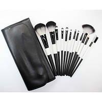 Набор кистей для макияжа 12 шт - Make Up Me BW12 Черно-белый - BW12