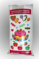 Фасовочные пакеты №9 (18*35) Тортики, очень прочные (500 шт= 1 кг)