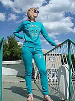 Спортивный костюм женский без молнии брюки манжет