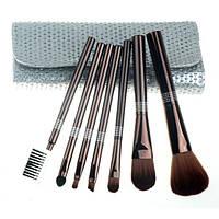 Набор кистей для макияжа 7 шт - Make Up Me SIL-GL-7 Серебро Камни - SIL-GL-7
