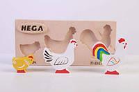 Набір фігурок «Мама, тато, дитинча Кури», фото 1