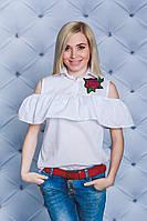 Стильная блуза белая, фото 1
