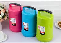 Термос пищевой ланч бокс пластиковый с железной колбой 1.8л C-138 Lunch Box