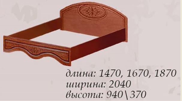 Кровать двуспальная Василиса 1600 (габариты)