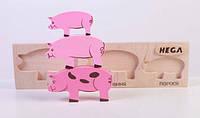Набір фігурок «Мама, тато, дитинча Свинки», фото 1