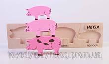 Набір вкладок «Мама, тато, дитинча Свинки»