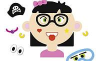Магнітна гра Смішні обличчя - дівчинка (Funny Faces - girl), фото 1