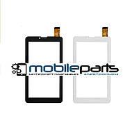 """Оригинальный Сенсор (Тачскрин) для планшета 7"""" Chuwi vi7 ( 185*104mm,30 pin) (Черный-Самоклейка)"""