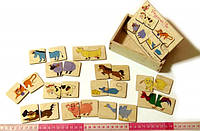 Дерев'яна іграшка «Половинки Домашні тварини», фото 1
