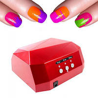 УФ лампа для ногтей 36 Вт CCFL+LED UV таймер D-058