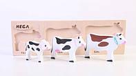 Набір фігурок «Мама, тато, дитинча Корови», фото 1