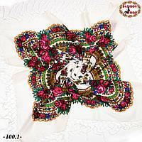 Біла українська хустка Квітучий сад, фото 1