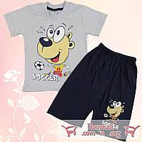 Костюм футболка и шорты для мальчика от 2 до 5 лет (5316-1)