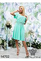 Шифоновое летнее женское платье  (42-46) , доставка по Украине