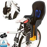 Велокресло детское с задним креплением и ремнями безопасности PROFI M 3133 Black-Grey