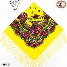 Украинский жёлтый платок Цветущий сад, фото 2