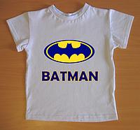"""Футболки детские """"Batman"""", белые"""