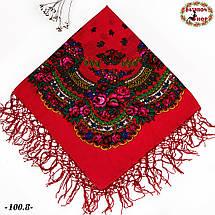 Українська червона хустка Цветущий сад, фото 3