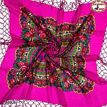 Рожева хустка українська народна Квітучий сад, фото 3