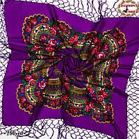 Українська фіолетова хустка Квітучий сад