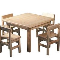 Детский набор стол и стулья Baby Сосна