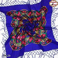Чарівна українська хустка синя Квітучий сад, фото 1