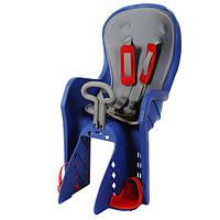 Велокресло детское с задним креплением и ремнями безопасности PROFI M 3133 Blue-Grey