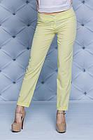 Женские брюки летние желтые