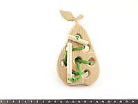 Деревянная игрушка Шнуровка Груша, фото 1